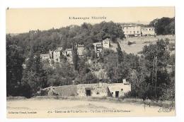 ENVAL  (cpa 63)  Un Coin D'Enval Et Le Château -- L'Auvergne Illustrée - RARE - - L 1 - France