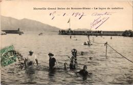 MARSEILLE (13) Grand Bains Du Roucas-Blanc - La Leçon De Natation - Très Très Rare - Carte Postée - Léger Plis Haut Droi - Endoume, Roucas, Corniche, Plages