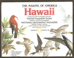 National Geographic Map - November 1983 - Hawaii - The Making Of America - Birds - Maps