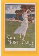 SPORT - GOLF - ILLUSTRATEUR - ELIO XIM ( Ximenes ) Golf MONTE-CARLO - Véritable Carte Postale Ancienne - Golf