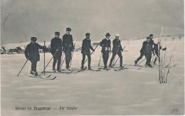 Wintersport AK Winter Erzgebirge Annaberg Buchholz Ski Läufer Bei Oberwiesenthal Bärenstein Weipert Gottesgab Cranzahl - Elterlein