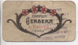 Carte Parfumée: Parfum GERBERA - Calendrier: 1921-1922 - Cartes Parfumées