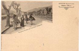 Bergères Corses Aux Environs D' AJACCIO -  Anes Montés  ...   (90190) - Ajaccio