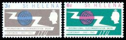St. Helena, 1965, Centenary Of The International Telecommunication Union, ITU, Michel #167-8, Scott #180-1, MNH, Perf... - Saint Helena Island