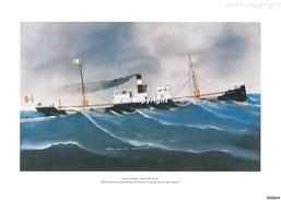 """Scuola Italiana""""Ritratto Del Piroscafo ROSALIA Di VENEZIA In Navigazione In Mare Aperto""""25 X 35- Perfetta Conservazione- - Stampe & Incisioni"""