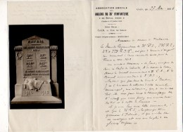 Correspondance 1936 Association Amicale Anciens Du 36° D'Infanterie De Caen Pour ériger Un Mémorial > Guerre 1914/1918 - Documents Historiques