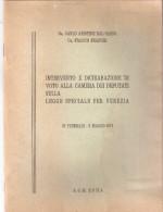 Fascicolo - INTERVENTO DI VOTO ALLA CAMERA DEI DEPUTATI - A. G. M. Roma 1973 - Diritto Ed Economia