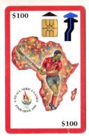 ZIMBABWE REF MV CARDS ZIM-05 100$ ORANGE BORDER - Zimbabwe