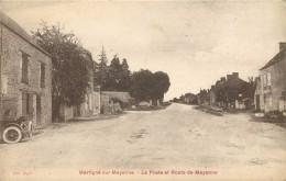MARTIGNE SUR MAYENNE - La Poste Et Route De Mayenne. - Poste & Postini