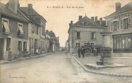 France - 36 - Indre - Ecueillé - Rue De La Gare - Débit De Tabac - Boulangerie Et Café Jamet - Francia
