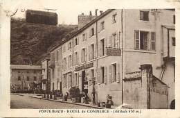 -ref- L862- Puy De Dome - Pontgibaud - Hotel Du Commerce - Cuisine Au Beurre - Tixeron Vidal Propr. Hotels - - Autres Communes