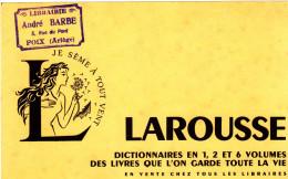 BUVARD LAROUSSE LIBRAIRIE BARBE FOIX 21X13.5 BON ETAT VOIR SCAN - Buvards, Protège-cahiers Illustrés