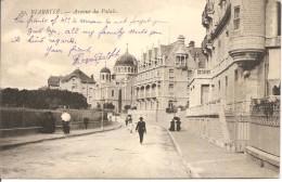 BIARRITZ - Avenue Du Palais - Editeur? N°29 - écrite En Anglais Et Circulée 1908 - Tbe - Biarritz