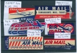 USA étiquettes Avion Neuves - Kommerzielle Luftfahrt