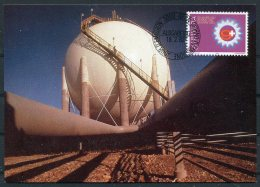 1982 Switzerland Gas Union Maxicard - Factories & Industries