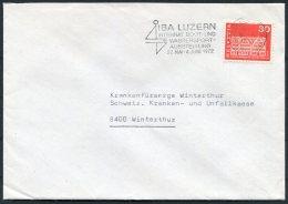 1972 Switzerland Luzern Boat Show, Boot Und Wassersport Ausstellung Cover - Covers & Documents