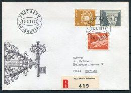 1973 Switzerland Bern Registered Ausgabetag Cover - Covers & Documents