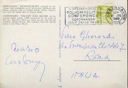 12522 Danmark,  Circuled Card With Special Postmark Poliomyelitis Conference Copenhagen 1960 - Medizin