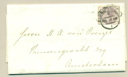 Great Britain - 1884 - 2,5d On Complete Folded Cover From London To Amsterdam - Briefe U. Dokumente