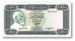 LIBYA - 10 Dinars - (1972 ) With Inscription - P 37.b - AUnc. - Sign. 1 - Serie I A/66 ( 192 X 95 ) Mm - 2 Scans - Libya