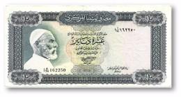 LIBYA - 10 Dinars - (1972 ) With Inscription - P 37.b - Sign. 1 - Serie I A/74 ( 192 X 95 ) Mm - 2 Scans - Libye