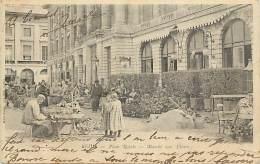-ref- L836- Marne - Reims - Place Royale - Marche Aux Fleurs - Marches Au Fleurs - Carte Bon Etat - - Reims