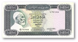 LIBYA - 10 Dinars - (1972 ) With Inscription - P 37.b - Sign. 1 - Serie I A/80 ( 192 X 95 ) Mm - 2 Scans - Libye