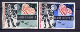 Samoa 1969 Space Apollo 11 Set Of 2 MNH