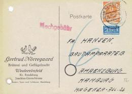 Germany - Mi-Nr 126 Postkarte Echt Gelaufen / Postcard Used (N599) - Cartas