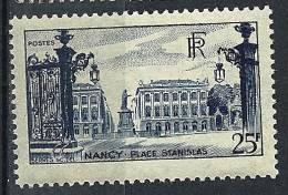 """FR YT 822 """" Place Stanislas à Nancy 25F. Bleu """" 1948 Neuf* - France"""