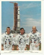 EUGENE A. CERNAN, J. YOUNG, T. STAFFORD  --  ASTRONAUT, SPACE FLIGHT TO MOON, APOLLO 10  --    PHOTO   25,5 Cm X 20,5 Cm - Aviation