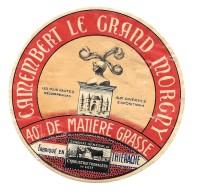 étiquette CAMEMBERT GRAND MORGNY  Fabriqué En THIERACHE - (rare)   CHATEAU HEAUME - Formaggio