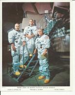 J. A. LOVELI, Jr., W. A. ANDERS, F. BOR  --  ASTRONAUT, SPACE FLIGHT TO MOON, APOLLO 10  --    PHOTO   25,5 Cm X 20,5 Cm - Aviation