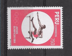 Peru  Stamps 2 Values Complete Set Olympics Sports Games Los Angeles 84 - Peru