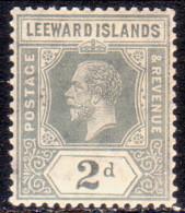 LEEWARD ISLANDS 1913 SG #49 2d MNH Wmk Mult. Crown CA - Leeward  Islands