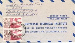Mexico Air Mail Cover Sent To USA 23-10-1964 - Mexico