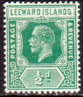 LEEWARD ISLANDS 1922 SG #59 ½d MH Wmk Mult. Script CA Die II - Leeward  Islands