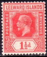 LEEWARD ISLANDS 1926 SG #63 1½d MLH Wmk Mult. Script CA Carmine-red - Leeward  Islands