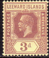 LEEWARD ISLANDS 1927 SG #69 3d MNH! Wmk Mult. Script CA - Leeward  Islands