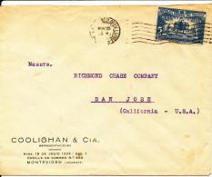 Uruguay Cover Sent To USA 1945?? Single Franked - Uruguay