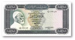 LIBYA - 10 Dinars - (1972 ) With Inscription - P 37.b - AUnc. - Sign. 1 - Serie I A/42 ( 192 X 95 ) Mm - 2 Scans - Libye