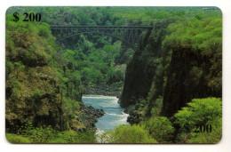 ZIMBABWE REF MV CARDS ZIM-18 200$ BRIDGE 08/2000 - Zimbabwe