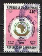 CAMERUN - 1996 - CONFERENZA DEI CAPI DI STATO AFRICANI - USATO - Camerun (1960-...)