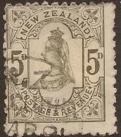 NZ 1882 5d QV P12x11.5 SSF SG 200 U #UM146 - Used Stamps