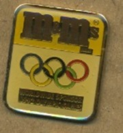 F# - PIN´S:  J O ALBERTVILLE   -  M&Ms - Olympische Spelen