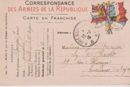 N°11. Correspondance Amées République FRANCHISE MILITAIRE  Modèle A1 (Drapeaux De Droite Bien Visibles ) Illust. STERN - Militaria