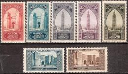 MAROC 1923-1927 - Timbre De 1917 (Monuments Retouchés Heliogravés) - Neufs* Y&T N°107 à 109a-112-113-116 - Neufs