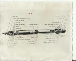 ROCKET  -   ASTRONAUT, SPACE FLIGHT TO MOON  -- PHOTO   25 Cm X 20,5 Cm - Aviation