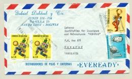 Bolivia - 4 Stamps On Cover From Santa Cruz To Beograd / Yugoslavia - Bolivië