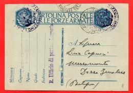 FRANCHIGIA-POSTA MILITARE- UFF MARITTIMO DI LAGOSTA-PER DOZZA IMOLESE-BOLOGNA-233 - Weltkrieg 1939-45